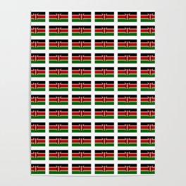 Flag of Kenya -kenyan,kenia,rift valley,serengeti,kilimanjaro,nairobi,mombasa Poster