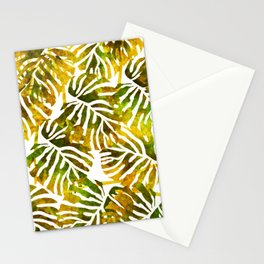 Sunset Tropical Leaves Abstract Stationery Cards