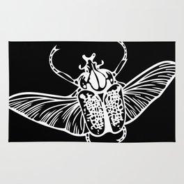 Goliath Beetle in White Rug