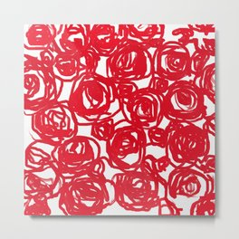 Red Pattern Metal Print