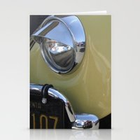 volkswagon Stationery Cards featuring Yellow Love Bug by wildVWflower