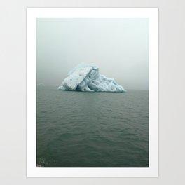 Jokulsarlon Iceberg Art Print