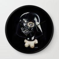 boob Wall Clocks featuring Boob Vader by Nataliette