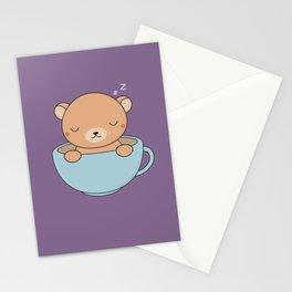 Kawaii Cute Coffee Brown Bear Stationery Cards