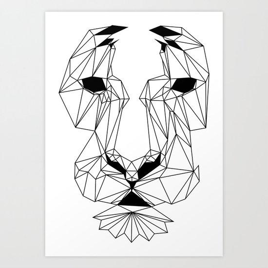 Lion of Lines Art Print