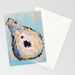 Impressionistic Oyster #2 - golden oyster Stationery Cards