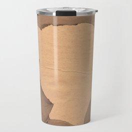 Paper portrait Travel Mug