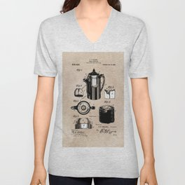 patent China Coffee pot - Blanke - 1909 Unisex V-Neck