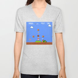 Super Mario Bros Unisex V-Neck