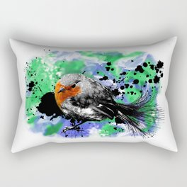 Robin Redbreast Rectangular Pillow