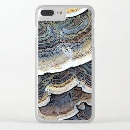 Turkey Tail Fungi Clear iPhone Case