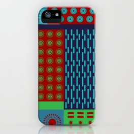 Japanese Style Colorful Patchwork iPhone Case