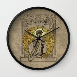 The Raven. 1884 edition cover Wall Clock