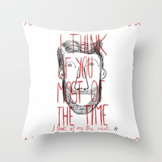 I think of you Throw Pillow