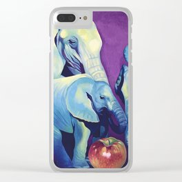 Elephat's Soccer Clear iPhone Case