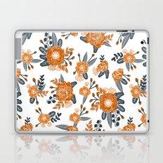 Texas orange and white university texans longhorns college football sports florals Laptop & iPad Skin