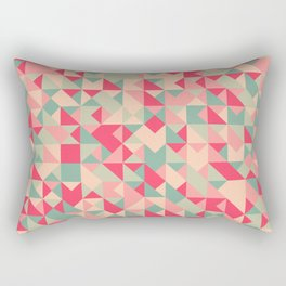 TRIANGLE GEOMETRY PATTERN v1 Rectangular Pillow