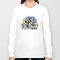 prague Long Sleeve T-shirts featuring Prague Angel by jbjart