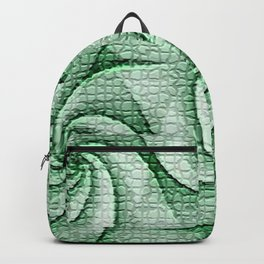 Green grinder pattern Backpack