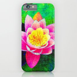 Camera on florals 5 iPhone Case