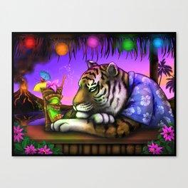 TIKI TIGER Digital Painting Canvas Print