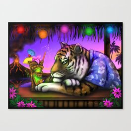 TIKI TIGER Digital Painting Canvas Print