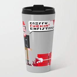 Negan Christmas Card Metal Travel Mug