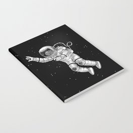 Astronaut in the outer space Notebook