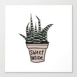 Sweet inside Cactus Canvas Print