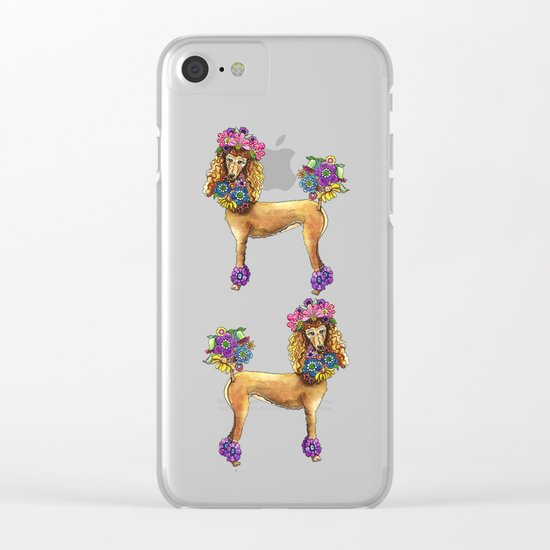 Poodle Dee Doo Clear iPhone Case