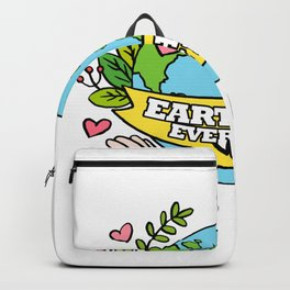 Earth Day Every Day Save The Planet Backpack