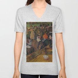 """Henri de Toulouse-Lautrec """"Ball at the Moulin de la Galette"""" Unisex V-Neck"""