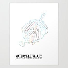 Waterville Valley Resort, NH - Minimalist Winter Trail Art Art Print