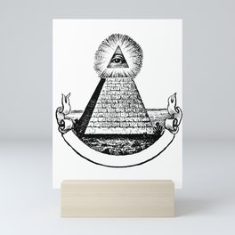 the Eye of Providence from the Great seal of America  All seeing Eye us dollar money cash Pyramid Mini Art Print