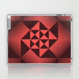 Abstract Triangles - Ruby Laptop & iPad Skin