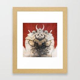 Panda Samurai Framed Art Print