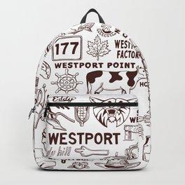 Westport Massachusetts Print Backpack