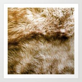 Fluffy Fur (NOT REAL FUR/PHOTO OF FUR) Art Print