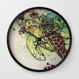 Hawksbill Sea Turtle Wall Clock