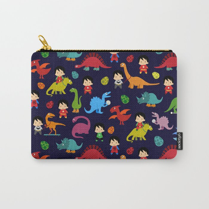 heroes and dinosaurs Carry-All Pouch