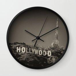 Vintage Hollywood sign Wall Clock