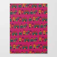 india Canvas Prints featuring India by cactus studio