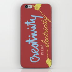 creativity is like electricity iPhone & iPod Skin