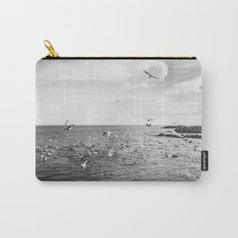 Irish bay and flying seagulls Carry-All Pouch