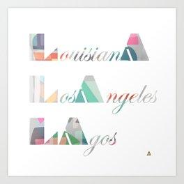 LA Cubed Art Print