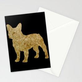 Golden Frenchie on black Stationery Cards