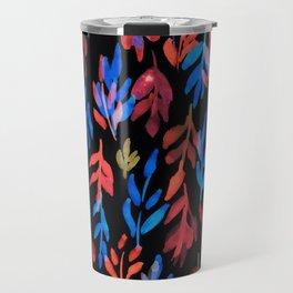 180726 Abstract Leaves Botanical Dark Mode 23|Botanical Illustrations Travel Mug