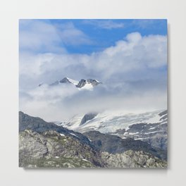 Alaska Magnificent Glaciers 'Floating' in the Glorious Clouds Metal Print