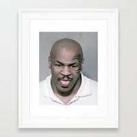 mike tyson Framed Art Prints featuring Mike Tyson Mug Shot by Neon Monsters