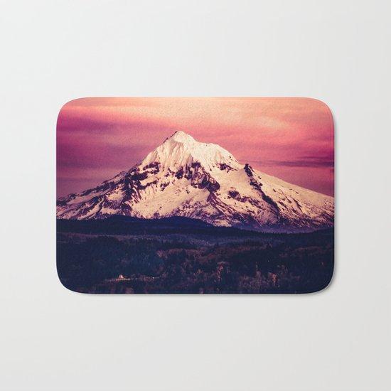 Mt Hood Mountain with Snow Bath Mat